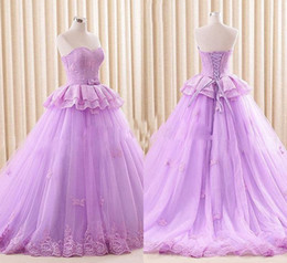 $enCountryForm.capitalKeyWord NZ - 2019 Sweetheart A-line Tulle Quinceanera Dresses Lace Border Appliques Debutante Dresses Custom Made Waist Bow Dresses for Prom Party Cheap
