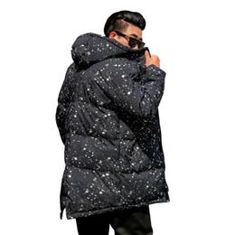 new wave clothing 2019 - 2018 Winter New Men's Large size XL-6XL Hooded Coat Wave dot Print Fashion Park Warm cotton jacket for 140kg Men&#0