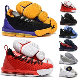 ce2b87394461 2018 New Kid Women Mens 16 XVI Black White x Foam Purple Yellow Basketball  Shoes High quality Youth Trainers 16s Sports Sneakers Size36-46