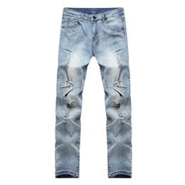 9e18378d96b Fashion Mens Ripped Slimfit Skinny Jeans Stretch Denim Distress Frayed  Pencil Pants Jeans Boys Stylish Skinny Autumn 2018