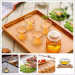 double glasses layers Australia - 10pcs 50ML Clear Water Glass Cup Heat Resistant Double Wall Layer Whisky Glass Milk Coffee Cups Fruit Juice Mug for Flower Tea