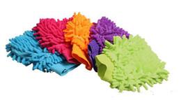 Chenille Towels Wholesale UK - 10 batch, high density fiber microfiber chenille wash mitt mitts towel clean gloves