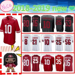 Discount new rice - NEW San Francisco 49er Mens Adult jersey 10 Jimmy Garoppolo 25 Richard Sherman 69 Mike McGlinchey 80 Jerry Rice 56 Reube