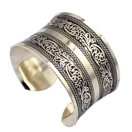 Discount antique silver bangles for women - Fashion Vintage Style Tibetan Jewelry Antique Silver Bohemian Bangle Antique Tibetan Carving Cuff Bracelets Bangles For