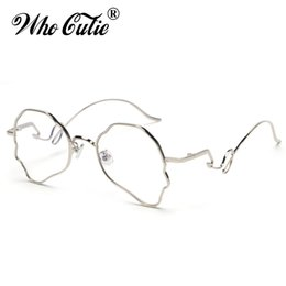 6fc8920c760 WHO CUTIE Unique Designer Aviation Sunglasses Women Brand 2019 Vintage Wire Metal  Frame Fashion Sun Glasses Fake Eyeglass OM823