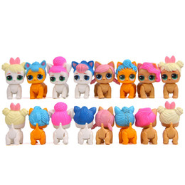 Chinese  8pcs set Cartoon Pet Dog PVC Action Figure Toy lol Doll Toys Kids Educational Toys for Kid Birthday Gift Christmas manufacturers