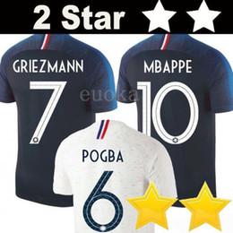 2 Estrelas Tailândia GRIEZMANN MBAPPE POGBA camisas de futebol 2018 camisas do mundo copa DEMBELE MARTIAL KANTE camisas de futebol GIROUD Maillot de foot
