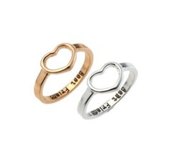 Wholesale Best Friend Love Rings Unisex Option Size Gold Silver Rings Simple Fashion Jewelry Accessories Band Rings