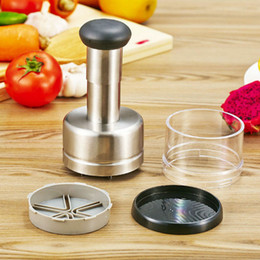 $enCountryForm.capitalKeyWord NZ - Stainless Steel Garlic Presses Device Pepper Shallot Press Mincer Onion Cutter For Vegetable Kitchen Gadgets tool