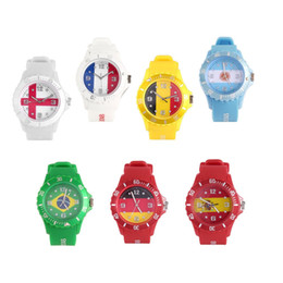 $enCountryForm.capitalKeyWord UK - Sports Custom Russian England Spanish Brazil French USA contries Flag Quartz Watch Casual Unisex Watch Silicone Strap relogio