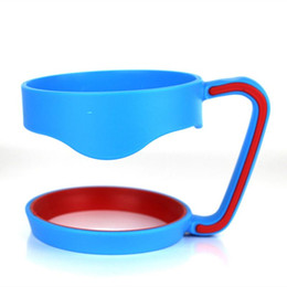 Wholesale Anti slip Plastic Cup Handle Cup Holders Stainless Steel Insulated Tumbler Mug Handle Plastic Hander colors for oz