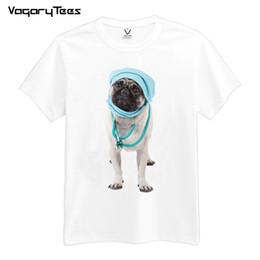 86b97fd4d Trust Me I'M A DOGTOR Funny 3D Pug dog Doctor Print T-Shirt Men Funny T  Shirt Summer New Design Tees Tops
