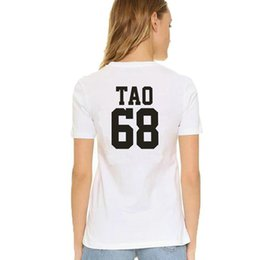 $enCountryForm.capitalKeyWord UK - Tao t shirt Cool words EXO group 68 ABstyle short sleeve gown Street leisure tees Unisex clothing Pure color cotton Tshirt