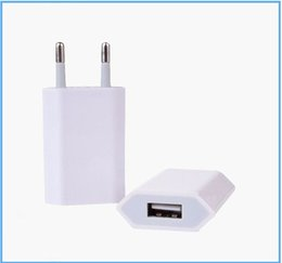 slim mini phone Canada - 5V 1000ma 1A Universal EU US Plug Slim USB Wall Charger AC Power Adapter for iphone 4 4S 5 5G ipad mini ipad2 USB Chargers cell phone MQ1000