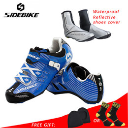 Red Pedals NZ - Sidebike road cycling shoes men racing shoes road bike pedals self-locking bicycle sneakers breathable professional red