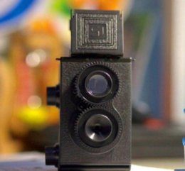 Wholesale 201 Fashion Black DIY Twin Lens Reflex TLR mm Lomo Film Camera Kit Classic Play Hobby Photo Toy Gift for Children Students
