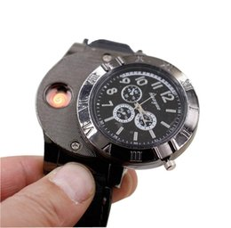 Wholesale 2018 Watch Lighter In Rechargeable Electronic Lighter USB Charge Flameless Cigar Wrist Watches Lighter