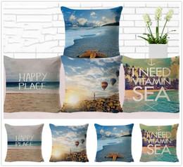 Опт Новый Прекрасный Вид На Пляж Шаблон Наволочка Главная Кровать Украшения Чехлы Красивые Подарки Бесплатная Доставка