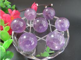 $enCountryForm.capitalKeyWord NZ - Natural Amethyst Quartz Crystal Ball Amethyst Sphere Reiki Healing Crystal Ball Seven Array Feng Shui Decoration