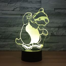 $enCountryForm.capitalKeyWord Canada - Racoon 3D Optical Illusion Lamp Night Light DC 5V USB Powered AA Battery Wholesale Dropshipping Free Shippin