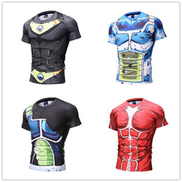 Maglietta degli uomini di nuova moda T-shirt Dragon Ball Character T-shirt Muscle Machine dipinta a mano per Mens Top S-5XL