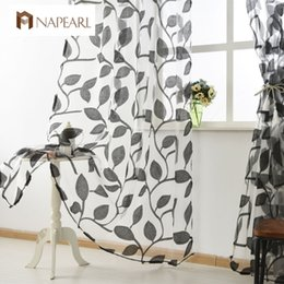 $enCountryForm.capitalKeyWord Australia - Organza tulle curtains leaf design white sheer fabrics kitchen door curtains sheer panel transparent window curtain modern thin