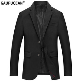 Easy Care Suits Australia - Man Suit Jacket Wool Luxury High Quality Fashion Slim Solid Male Formal Business Black Easy Care Spring Autumn Woolen Men Blazer