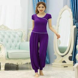 $enCountryForm.capitalKeyWord Australia - Women's Yoga Clothes Sets Autumn Spring Slim Body Yoga Lantern Pants Set For Female Fitness Clothing Plus Size Suits