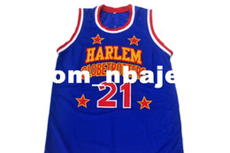 special basketball NZ - wholesale Kevin Special K #21 Harlem Globetrotters Basketball Jersey Blue Stitched Custom any number name MEN WOMEN YOUTH BASKETBALL JERSEYS