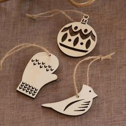 $enCountryForm.capitalKeyWord Canada - Christmas Hanging Ornaments Wooden Hollow Bird Glove Party Decoration For Party DIY Christmas Decor Tree Pendant