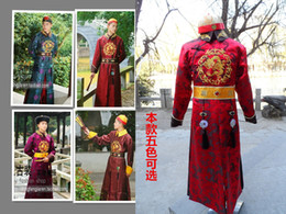 $enCountryForm.capitalKeyWord NZ - Fashion Men Chinese Ancient Clothes For Prince Chinese Qing dynasty Style With Hat Men Robe Traditional Clothes