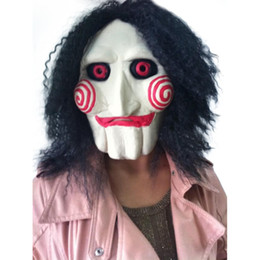 scary puppets Australia - Hot New Movie Saw Chainsaw massacre Jigsaw Puppet Masks Latex Creepy Halloween gift full mask Scary prop unisex party cosplay supplies
