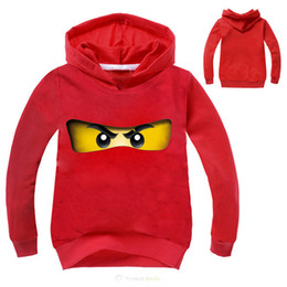 Discount ninja clothing - 2018 Ninja Ninjago Clothes Boys Hoodies Cartoon Kids Costumes Children T shirts Girls Sweatshirts Boys Outwear Tops Tee