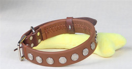 $enCountryForm.capitalKeyWord Canada - CollarDirect Rolled Leather Dog Collar, Soft Padded Round Puppy Collar, Handmade Genuine Leather Collar for Dog Large Collars Brown