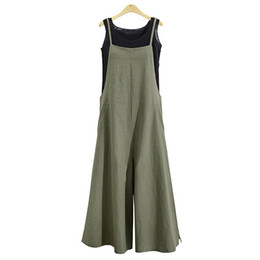Harem Jumpsuits Women Australia - Women Casual Loose Fit Jumpsuit Long Suspender Bib Wide Leg Overalls Pants Romper Harem Pants Pregancy Baby Nursing Plus Size