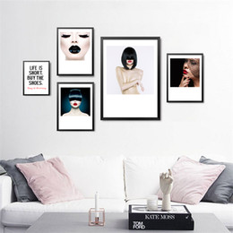 Discount colorful art paintings - Unframe Modern Decorative Painting SPA Beauty Salon Colorful Makeup Wall Painting Canvas Art Print Poster Home Decor FG0