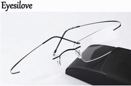 4b8cecafc7cb Lightweight titanium eyegLass frames online shopping - Ultra light brand  Silhouette new rimless optical glasses frames