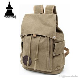 e0d53bfaef4 Wholesale- Vintage Canvas Backpack New Design Casual School Bags For  teenagers Travel Men Women Drawstring Backpacks Rucksack High Quality