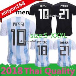 Free shipping new 2018 World Cup MESSI DYBALA Argentina home Away soccer  jersey AGUERO DI MARIA HIGUAIN football shirts men size S-XXXL 1ae304956