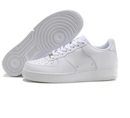 official photos 1b82a 791ac 2018 Nike Air Force one 1 Af1 Descuento de la marca One 1 Dunk Hombres  Mujeres Flyline Running Shoes, Deportes Skateboarding Zapatos High Low Cut  Blanco ...