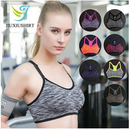 fbc32f9dcf Women Sexy Fitness Yoga Sports Bra Running Gym Adjustable Spaghetti Strap  Padded Top Seamless Shockproof Bra Athletic Vest S M L