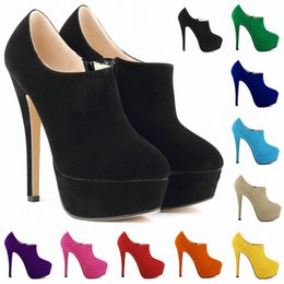 Flocking materials online shopping - nightclub women shoes platform boots suede material autumn and winter new kinds of color