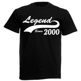 Legend 2000 T Shirt Mens 18th Birthday Gifts Presents Gift Ideas For Men Boys Fashiont Free Shipping