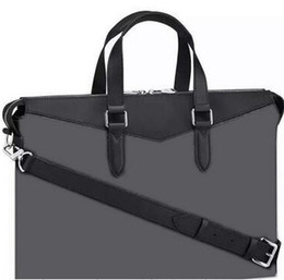 $enCountryForm.capitalKeyWord Canada - CLASSIC BRANDED MEN black letter EXPLORER briefcase M40566 luxury bags gentleman Black Leather laptop bag male Shoulder briefcases