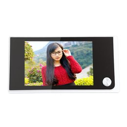 Lcd screen viewer online shopping - 520A Inch LCD Screen Digital Peephole Viewer Door Bell Enabled Video WIFI Doorbell Camera