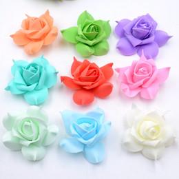 White Rose Crafts Australia - 100pcs Foam Pentagon Rose Handmake Artificial Flower Head Wedding Decoration Diy Wreath Gift Box Scrapbooking Craft Fake Flower