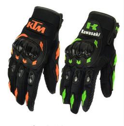 SALDI !! I guanti da moto Summer Winter Full Finger sono guanti moto da moto in pelle luvas motocross in Offerta