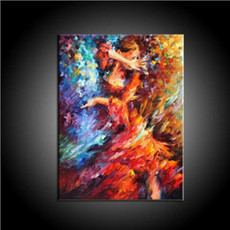 Flamenco dancer oil paintings online shopping - Pure Handmade Abstract Knife Painting Dancer Oil Painting On Canvas Spanish Dancer Abstract Flamenco Lady Dancer Picture Home Decor