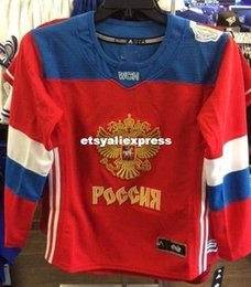 b0a37624a Cheap Custom 2016 World Cup of Hockey Team Russia Jersey Red Mens stitching  jerseys
