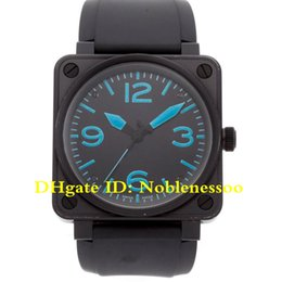 Discount luxury square automatic watch - 4 Color Top Luxury Mens Watch Limited Edition Carbon Coated Steel Auto Mens Watch 01-92-SBLU 01 92 Rubber Band Automatic